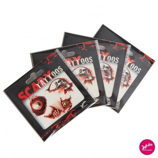 Jofrika Cosmetics 704050/51 Horror Scary Tattoos - Wunden, Narben, Blut, Auge