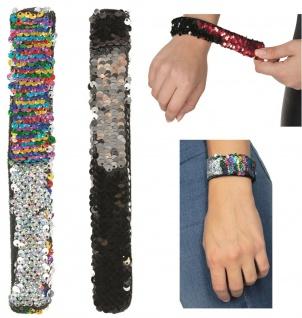 Rubies 61907xx - Klackarmband Wendepailletten, Armband, Pailletten - mehrfarbig