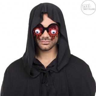 Mottoland 610008 - Bloody Eyes Brille, Kostüm Zubehör, Halloween - Augäpfel