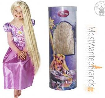 Rapunzel Glow in the Dark * Perücke * Karneval * leuchtende, lange Haarpracht