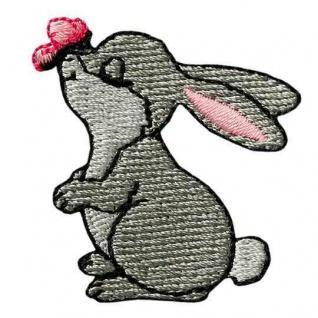 Mono Quick 04615 Hase mit Schmetterling Applikation, Flicken, Bügelbild, Patch