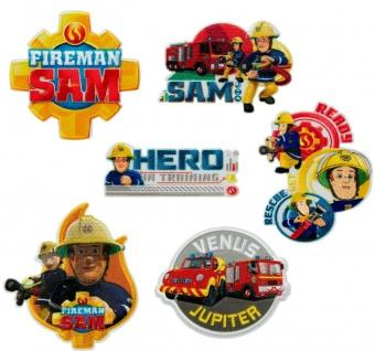 Feuerwehrmann Sam Applikationen, Bügelbild, Patch, Aufnäher, Penny Jupiter Venus
