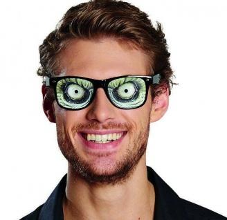 Mottoland 610096 - Brille Echsenaugen, Kostüm Zubehör, Halloween - Echse Augen
