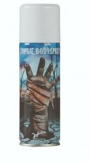Jofrika Cosmetics 708510 - Zombie Bodyspray 125ml, Graues Körperspray Halloween