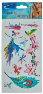 Jofrika 704071 - Aquarell Tattoos Erwachsene, Sommer Sonne Festival