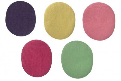Mono Quick 2er Jeans Flicken Bunt, Applikation, Bügelbild, Patch, Oval, Aufnäher