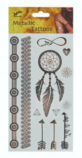 Jofrika 704081 - Metallic Tattoos Dream, Sommer Sonne Festival, Gold Silber