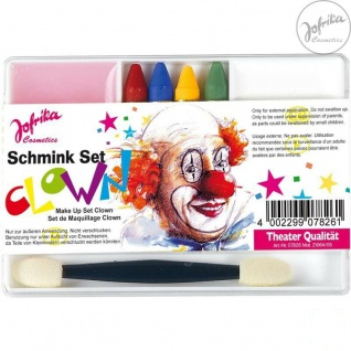 Jofrika Cosmetics * 707826 - Schminkset Clown * Schminke Karneval *