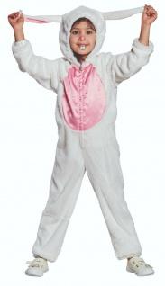 Mottoland 116173 - Hase, kuscheliges Kinder Kostüm Häschen Overall Gr. 104 - 128