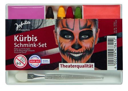 Jofrika Cosmetics 747841 - Schmink-Set Kürbis, Applikator Schminke Stifte