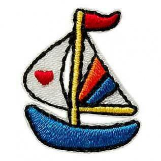 Mono Quick 02152 Segelboot Applikation, Flicken Bügelbild Patch, Boot ca.2x2, 5cm