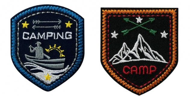 Mono Quick 080xx Camping Applikation, Bügelbild, Patch, Camp Wappen Outdoor