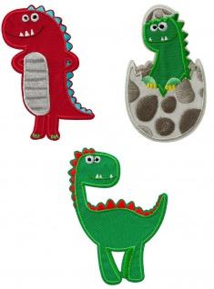 Mono Quick 0849x Dino Applikation, Bügelbild, Patch, Dinosaurier Ei, grün, rot