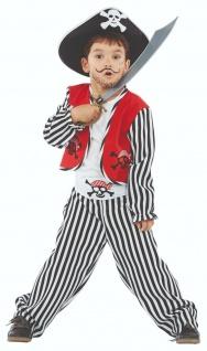 Mottoland 116202 - Ben der kleine Pirat, Kleinkind Kostüm Gr. 80 - 128
