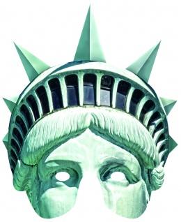 Rubies 6240420 Card Mask - Face Mask * Lady Liberty Maske aus Pappe * Freiheit