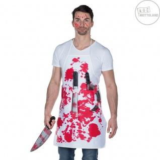 Mottoland 642107 - Blutige Metzgerschürze mit Messern Halloween * Kostüm Zubehör