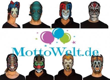 Rubies Leuchtende LED Masken, verschiedene Motive - Horror Clown, Harlekin uvm.