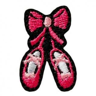 Mono Quick 02243 Ballettschuhe Pink Applikation, Bügelbild Patch Aufnäher