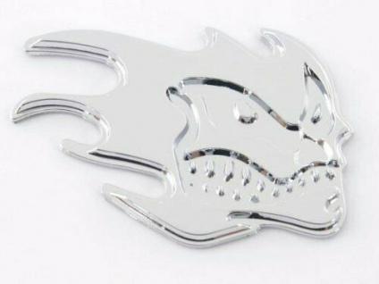 Aufkleber Chrom 3D Car Logo Motiv Madface 82x58 mm chrom * FK-Automotive