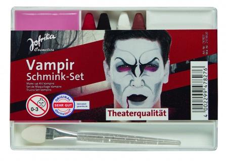 Jofrika Cosmetics 747827 - Schmink-Set Vampir, Applikator Schminke Stifte