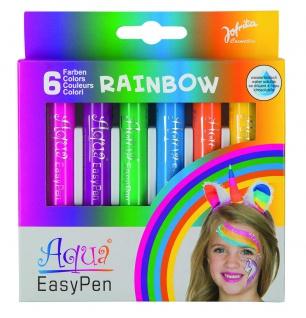 Jofrika Cosmetics 708797 - Aqua Easy Pen Box Regenbogen, Wasserbasis, 6er Set