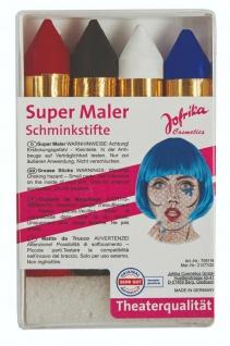 Jofrika Cosmetics 708118 - Super Maler, 4 Schminkstifte Set, Theaterqualität