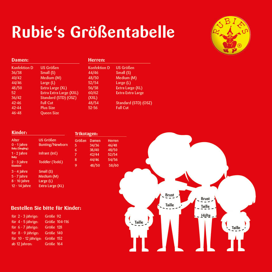 Rubie/'s kostüm Astrid Mädchen Körpergröße 128