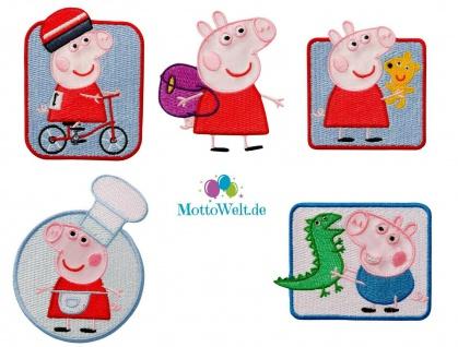 Peppa Wutz Applikationen, Bügelbild Aufnäher Iron on Patch, Peppa Pig, George