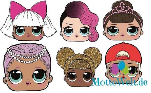 Rubies LOL Surprise Card Mask - Pappmaske, Rocker Queen Bee MC Swag Merbaby Diva