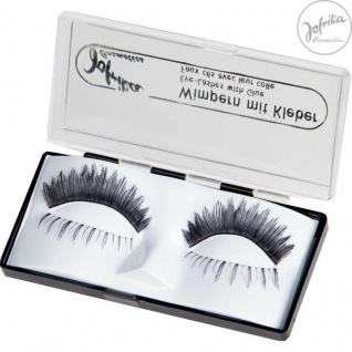 Jofrika Cosmetics 718703 * Echthaar Wimpern Duett * inklusive Kleber *Natur-Look