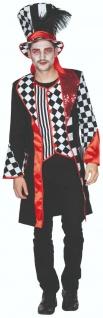 Mottoland 119224 - Pierrot Mantel * 50 - 58 * Karneval Pantomime Mantel