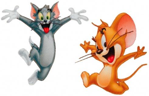 MQ Tom & Jerry Applikationen, Bügelbild - Aufnäher Aufbügler Patches