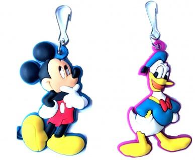 MQ 0660x Disney`s Mickey Mouse oder Donald Duck Zipper, Reißverschluss Abzieher