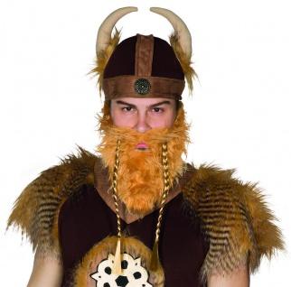 Mottoland 57286 - Wikinger Bart Kostüm Zubehör, Vollbart mit geflochtenen Zöpfen
