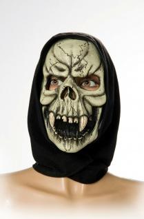 Rubies - 6240315 - Totenschädelmaske mit Tuch * Skelett * Horrormaske LATEX