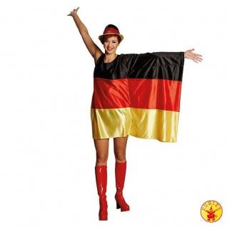 Rubies 13913 - Flaggen Kleid Deutschland. M/L XL * WM EM * Fußball Fan Zubehör