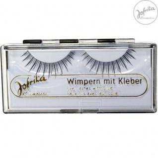 Jofrika Cosmetics 718403 * Echthaar Wimpern Spezial * inkl. Kleber * Natur-Look