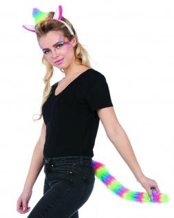 Mottoland 63284 - Einhorn Set 2tlg. * Kostüm Zubehör * Unicorn Rainbow