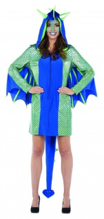 Mottoland 118217 - Drachenfrau - Karneval - Damen Drache Kostüm Gr. 34-42