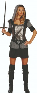 Rubies 13122 - Ritterin, Damen Kostüm, Gr. 36 - 44, Ritterkleid, Karneval