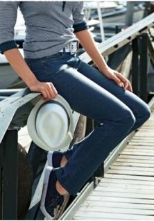 CORLEY Damen Jeans Stretchdenim Used-Waschung * Hose Größe 34 * NEU