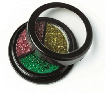 Jofrika Cosmetics 712107 - Trio Glitter gold-grün-pink - Glitzer Body make up