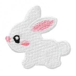 Mono Quick 04517 Kaninchen, weiß Applikation, Flicken, Bügelbild, Patch, Hase