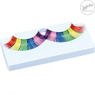 Jofrika Cosmetics 718800 * Hippie Wimpern * inkl. Kleber * Regenbogen * Einhorn