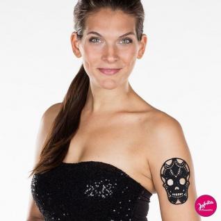 Jofrika 704090 Lace Tattoo * Skull Totenkopf *Textil Spitzentattoo selbstklebend