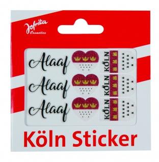 Jofrika Cosmetics Skin Sticker, Köln Alaaf o. Kölner Dom, Karneval rot und weiß
