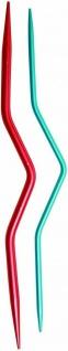 KnitPro 45501 - Alu Zopfnadel 4, 0 + 2, 5 mm , 2 Zopfmusternadeln, blau & pink