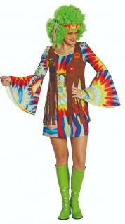Mottoland 118177 - Hippie Lady, 3tlg. Damen Kostüm, Gr. 36 - 48 - 60er 70er