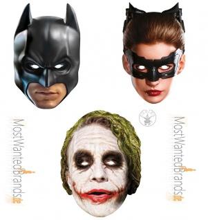 Rubies card mask * Batman, Catwoman, The Joker * Maske aus Pappe *