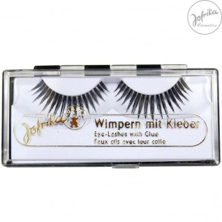 Jofrika Cosmetics 718203 * Echthaar Wimpern Elegance * inkl. Kleber * Natur-Look